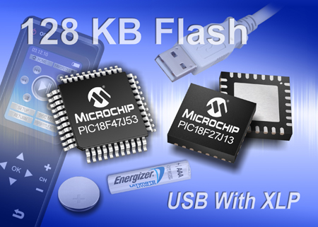 Microchip Adds New High-Density 8-bit Microcontrollers to the eXtreme Low Power (XLP) Family