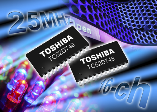 Toshiba Launches High-Speed 16-Channel Constant Current LED Drivers with Wide, High Accuracy Outputs