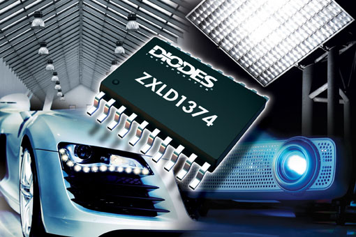 Diodes' Multi-Topology LED Driver Raises Performance of High Brightness Lighting Systems
