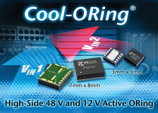 Picor's New Cool-ORing® 48V and 12V High-Side Active ORing Solutions
