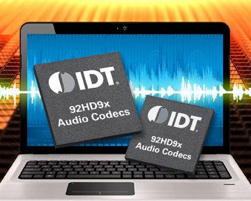 IDT's World's First Family of High-Definition Audio CODECS with 3-State Class-D Modulation