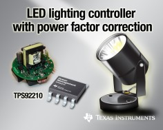 TI's New LED Lighting Controller with Power Factor Correction