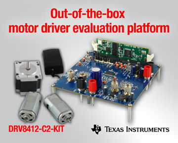 TI's New Motor Driver Evaluation Platform Spins Brushed DC Stepper Motors