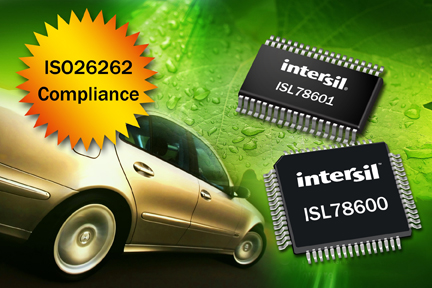 Intersil Introduces Hybrid and Electric Vehicle (HEV/EV) Li-Ion Battery Management Control Solution