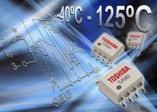 Toshiba Electronics launches ultra-compact photocoupler for industrial applications operating to 125°C