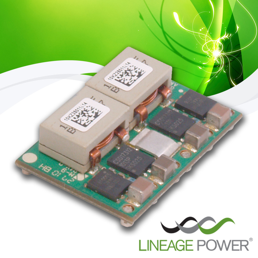 Lineage Power GigaTLynx POL Converter Conserves Energy and Space