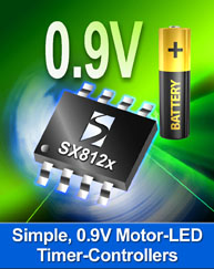 Semtech Single-Cell LED and Motor Timer-Controllers Simplify Design of AA/AAA Battery-Operated Electronic Appliances