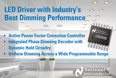 National Introduces LED Driver with Industry's Best Dimming Performance