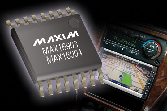 Maxim's 2.1MHz Automotive Step-Down Converters Consume only 25μA