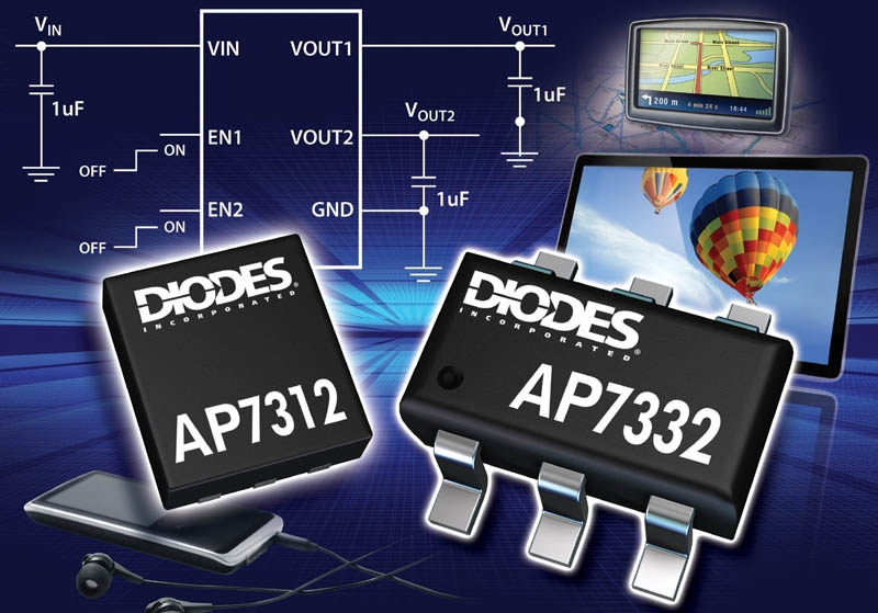 Diodes Incorporated LDOs Extend Battery Life