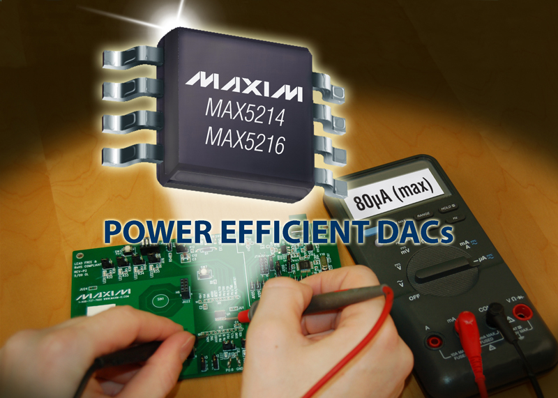 Maxim's Ultralow-power DACs Prolong Battery Life in Portable Applications