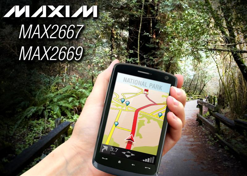 Maxim's Latest GPS LNAs Offer Industry-Low 0.65dB Noise Figure to Extend Receiver Sensitivity and Read Range