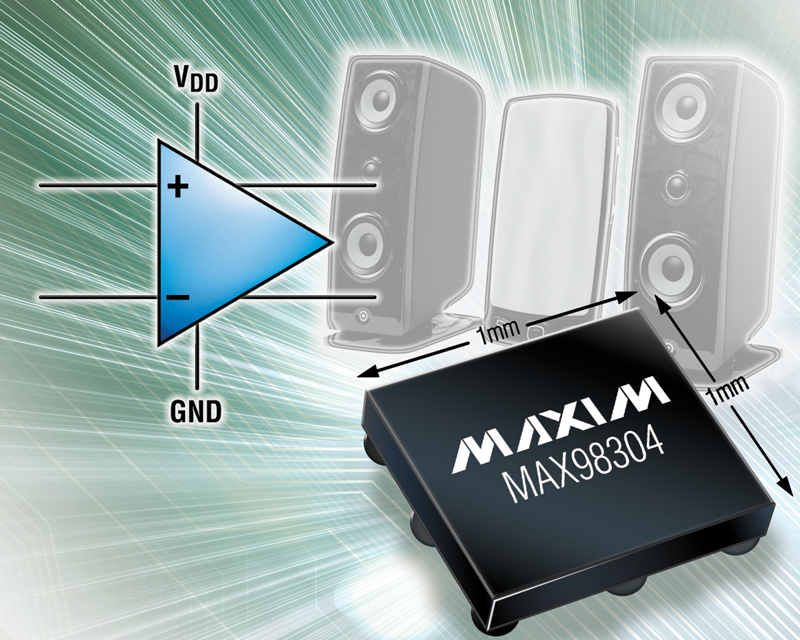 Maxim's New 1mm x 1mm Class D amplifier