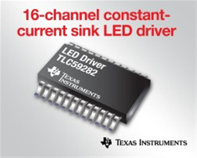 TI's New Low-Noise 16-Channel Constant-Current Sink LED Driver