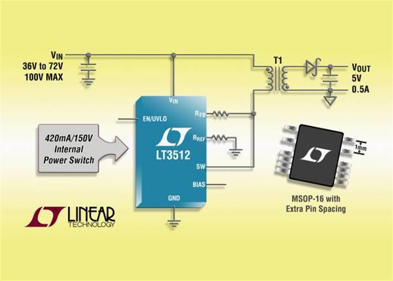 High Voltage Isolated Monolithic Flyback Regulator Simplifies Design & Eliminates Optocoupler