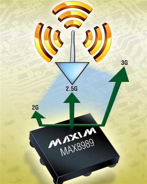 Maxim's Step-Down Converter with Linear Bypass Powers Multimode PAs in Mobile Handsets