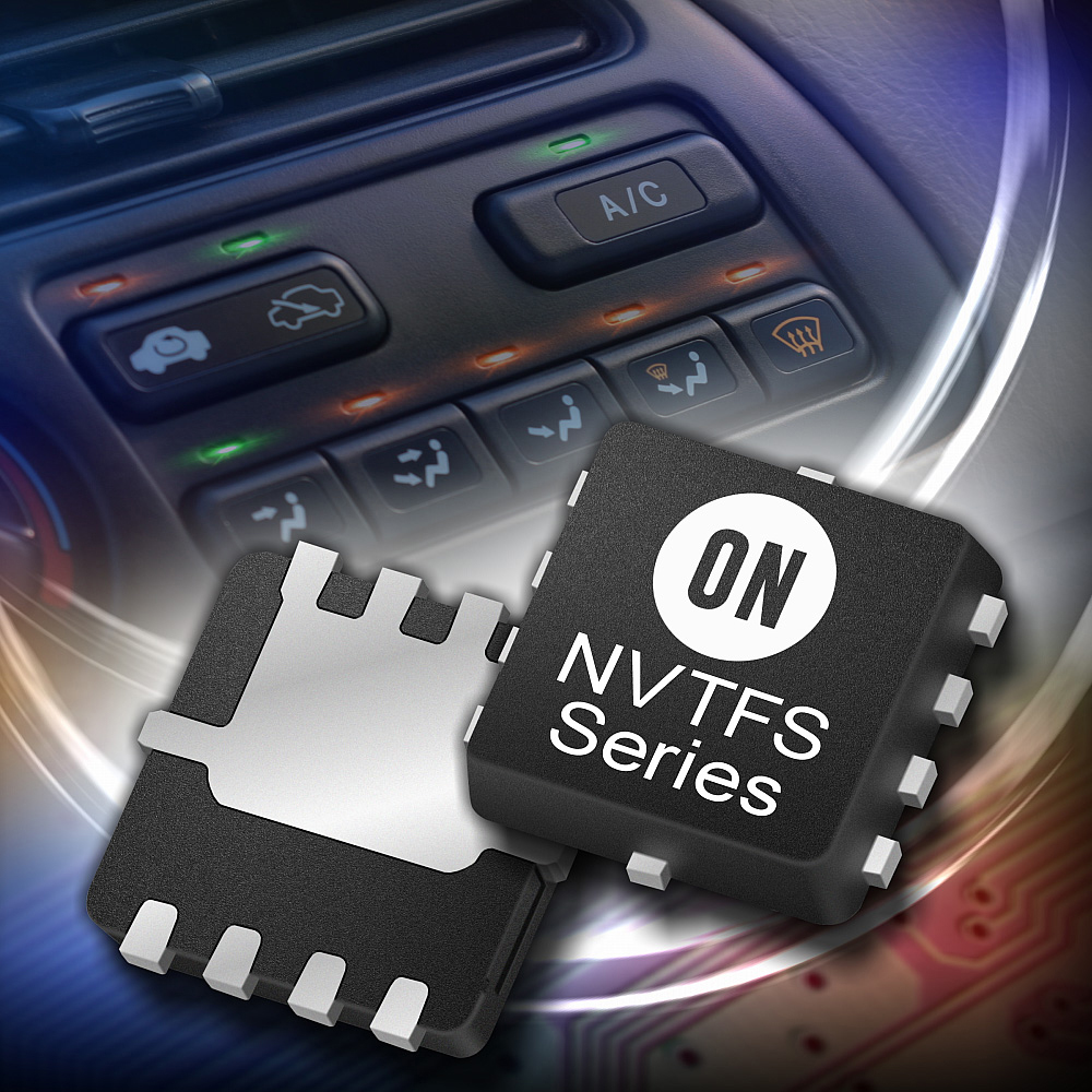 ON Semiconductor's New Power MOSFET Devices Deliver Space Savings and Robust Performance for Automotive Modules