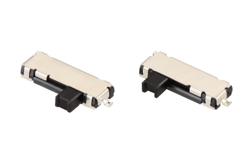 1.2 mm Low-Profile Slide Switch with Left-side and Right-Side recoil Self-return Operation