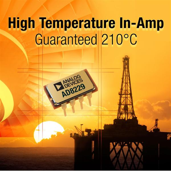ADI's Industry First Precision High-Temperature Instrumentation Amplifier