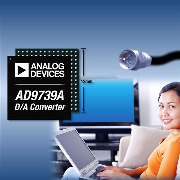 ADI's Low Power D/A Converter Synthesizes Entire Cable Spectrum into a Single RF Port