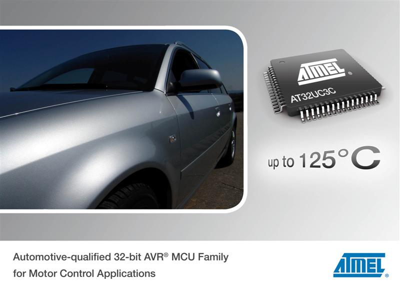 Atmel Releases Automotive-qualified 32-bit AVR MCU Family for Motor Control Applications