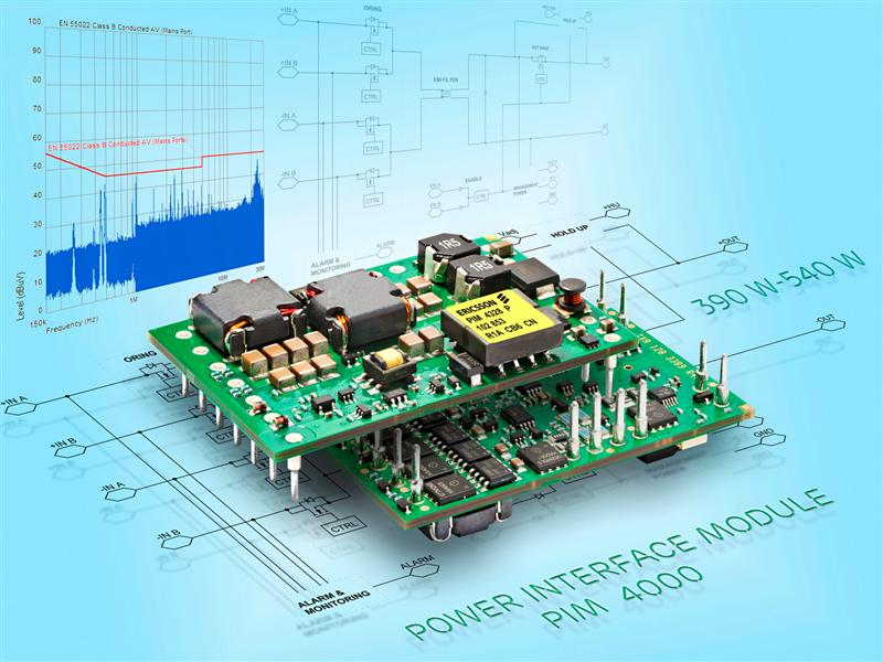 Ericsson 400W Power Interface Module Simplifies Low-EMI Design in ATCA Applications