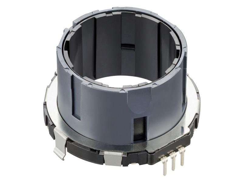 ALPS Offers 4.5mm Low-Profile Ring-Type 2-phase Incremental Encoder with Hollow Shaft