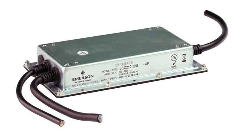 Emerson Network Power: Fully-Enclosed LCC250 Conduction Cooled 250 Watt Power Supplies