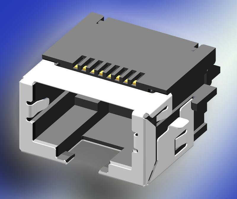 SUYIN's RJ45 jack with Height of only 9.6 mm - Just 4.4 mm Above PCB Surface