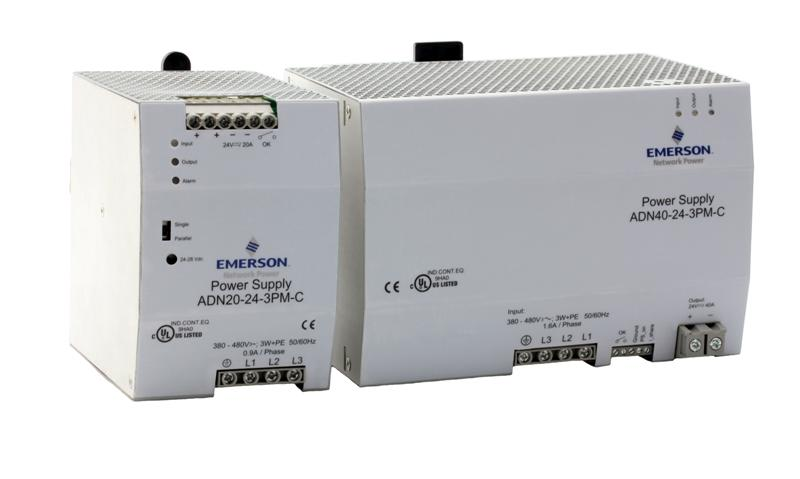 Emerson's ADN-C Series DIN Rail Mounting Three-Phase Power Supplies Feature Exceptionally Slim Form Factor