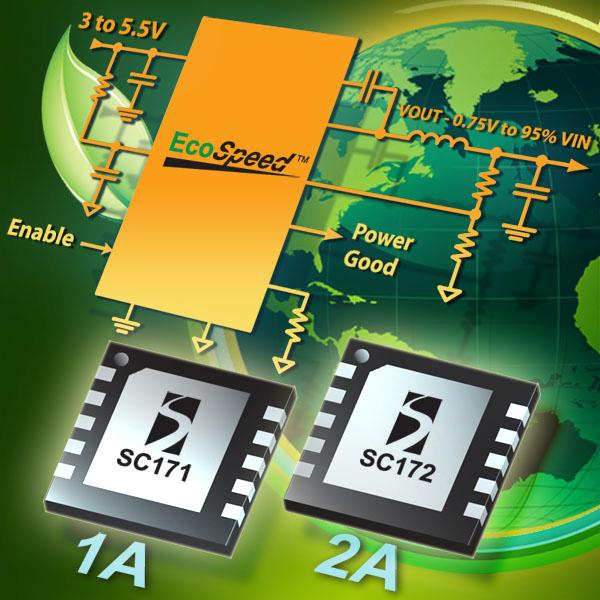 Semtech Expands EcoSpeed™ Regulator Platform with 1A and 2A Output Current Devices