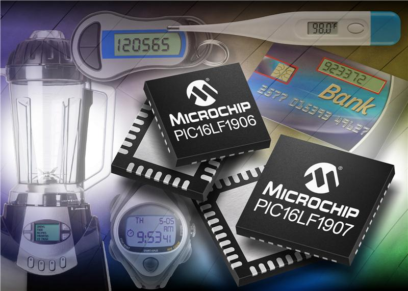 Microchip introduces low-cost 8-bit PIC® microcontrollers with eXtreme Low Power technology and integrated LCD control