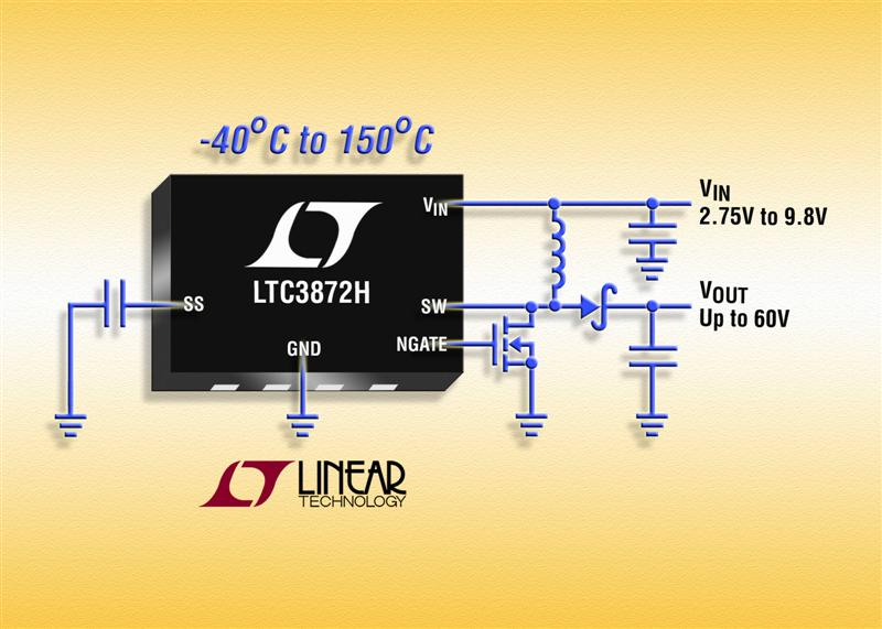 No RSENSE 60V Boost Controller Operates over a -40°C to 150°C Junction Temperature