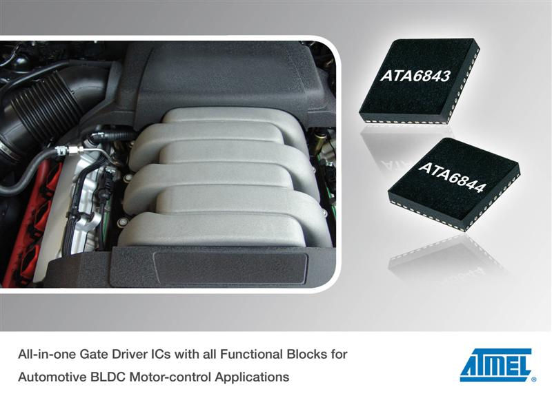 Atmel Launches Integrated Gate Driver ICs  for Automotive BLDC Motor-control Applications