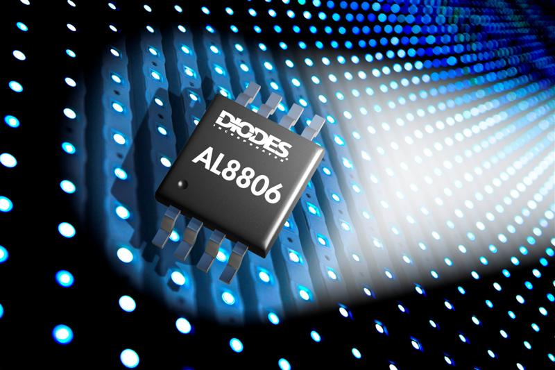 LED driver from Diodes delivers higher current for low voltage LED lamps