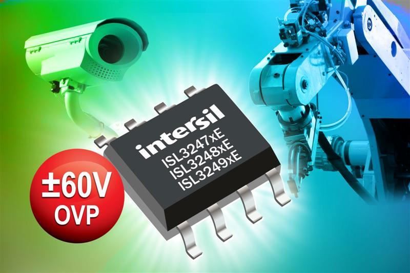 Intersil's New RS-485/RS-422 Transceivers Deliver Industry's Widest Common-Mode Range, Provide Excellent Reliability