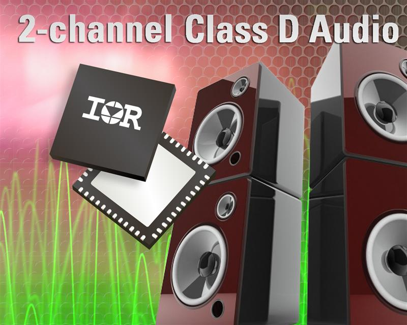 IR's IRS2052M 2-Channel Class D Audio Driver IC Delivers Excellent Audio Performance in a Smaller Footprint