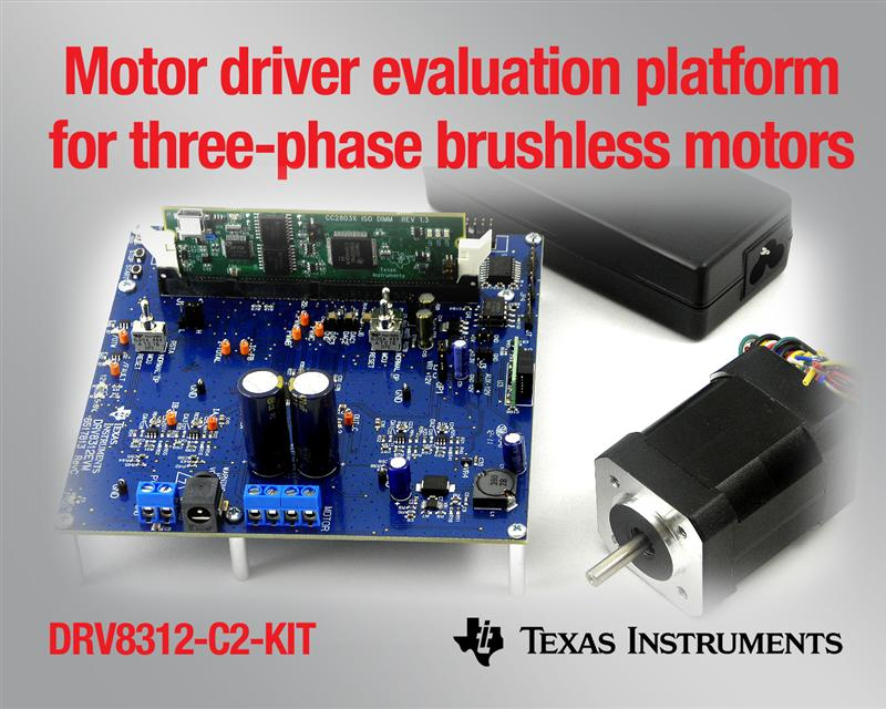 TI's new evaluation platform drives three-phase brushless motors for quicker time to spin