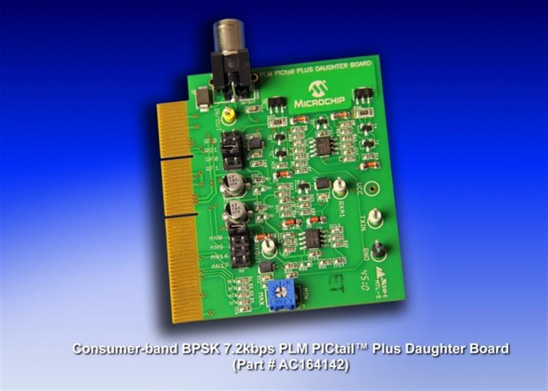 Microchip Launches Consumer-Band Power-Line Soft-Modem Development Kit
