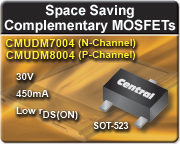 Complementary N-Channel and P-Channel MOSFETs in SOT-523 package