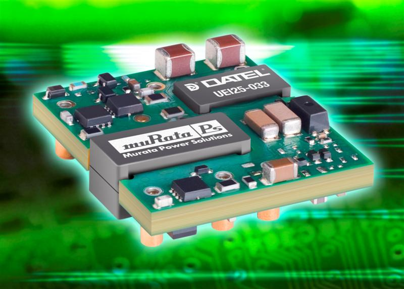 Murata Power Solutions extends its range of 25W low-profile open-frame DC-DC converters