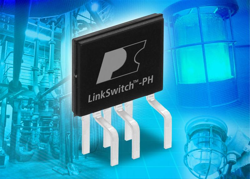 Power Integrations' LinkSwitch-PH LED Driver ICs Eliminate Electrolytic Capacitors, Exceed 90% Efficiency and 0.9 Power Factor