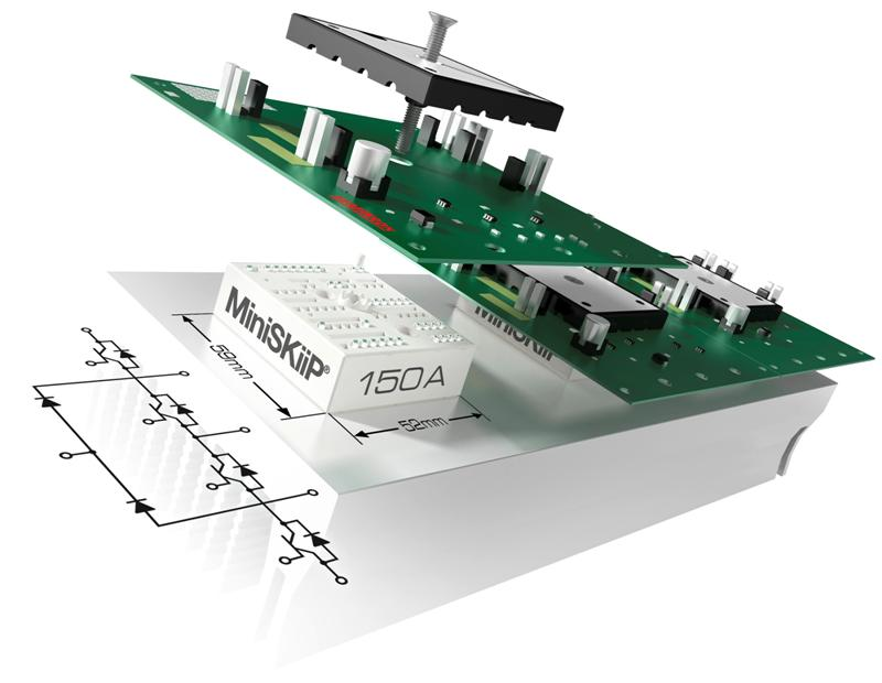 IGBT module tops the competition in current density: 4.9 A/cm² for 3-level inverters