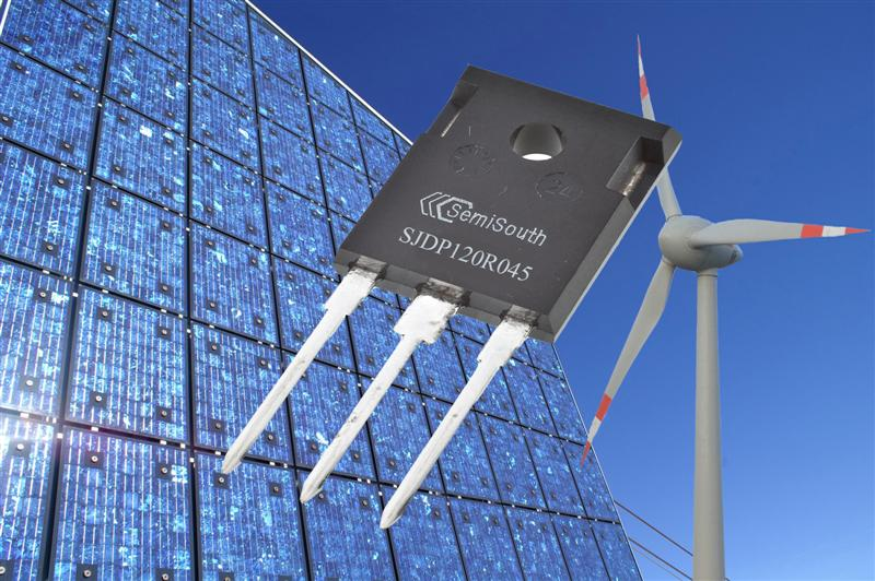 At 1200 V and 45 milliohms, SemiSouth introduces the industry's lowest resistance SiC power transistor for efficient power management