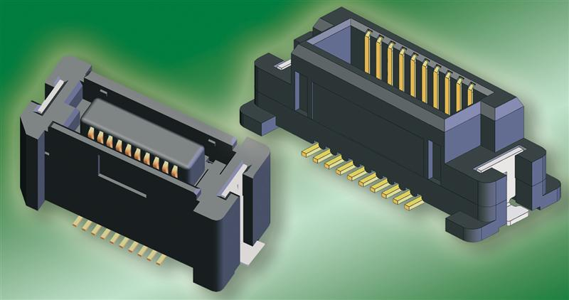 Mini board-to-board connector with a pitch of 0.635 mm for space savings of up to 11 percent