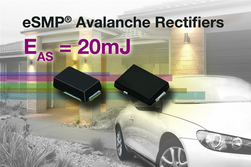 Vishay's New Series of Low-Profile, Surface-Mount Standard, Fast, and Ultrafast Avalanche Rectifiers