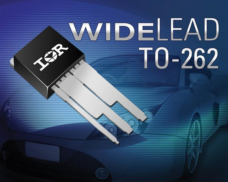 IR's Automotive MOSFETs in Novel WideLead Package Reduce Lead Resistance by 50% While Delivering 30% Higher Current