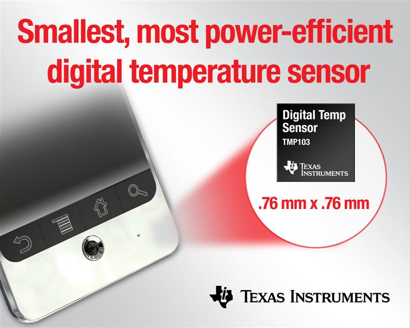TI's digital temperature sensor cuts power consumption, size more than 75 percent