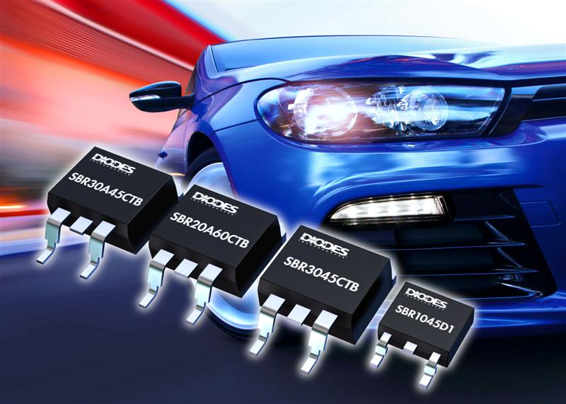Super Barrier Rectifiers from Diodes Incorporated raise reliability in automotive applications