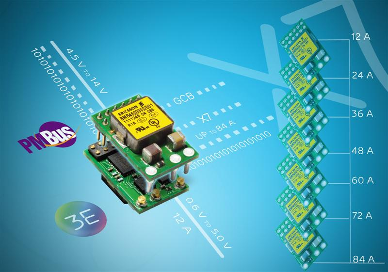 Ericsson's 12A Digital Voltage Regulator Completes Flexible Second-Generation Product Family